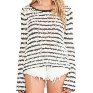 Free People Bell Sleeve Downy Stripe Pullover NWOT